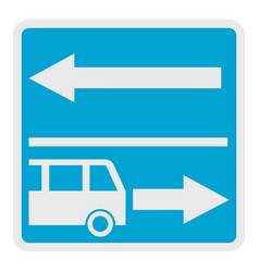 road for route vehicle icon flat style vector image