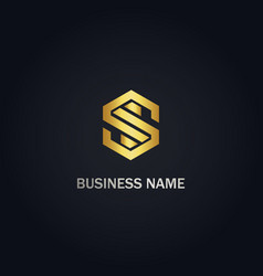 S shape line business logo vector