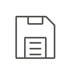 Save icon linefloppy disk symbol vector