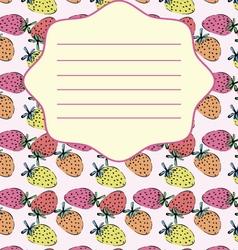 School notebook cover postcard invitation sample vector