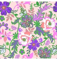 Seamless floral background Isolated lilac flowers vector image