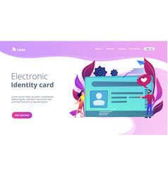 Smart id card concept vector