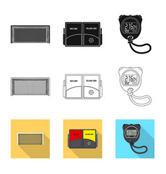 Soccer and gear icon set vector