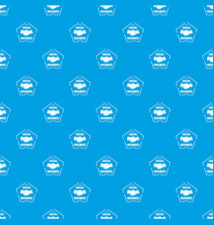 social business pattern seamless blue vector image