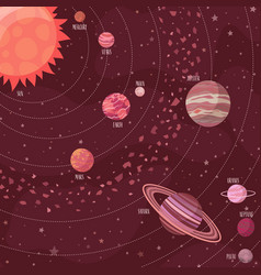 space background in cartoon style vector image