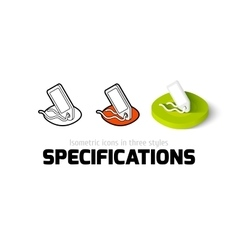 Specifications icon in different style vector image