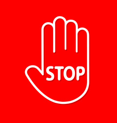 Stop sign passage is prohibited in the form of a vector