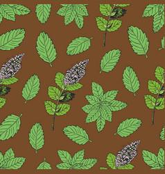 Tea pattern 2 vector