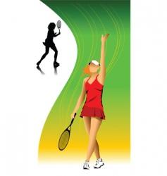 tennis victory vector image
