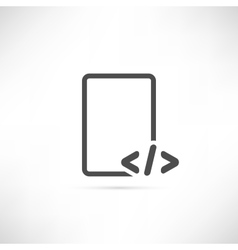 Text Code Icon vector