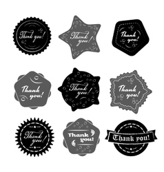 Thank you badges vector image