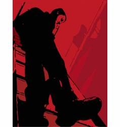the man on a ladder vector image