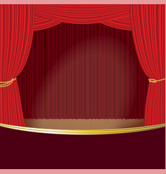 Theater stage curtain template vector