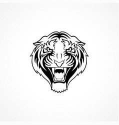 tiger face mask logo tatoo animal vector image