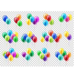 transparent isolated realistic colorful glossy vector image