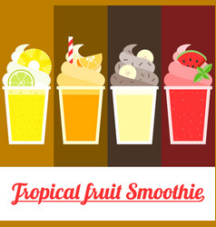 tropical smoothie vector image