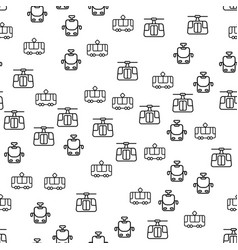 types of rail transport seamless pattern vector image