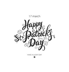 Typographic style poster for St Patricks Day with vector