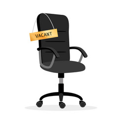 Vacant office chair vector