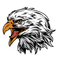 vintage eagle head mascot colorful concept vector image