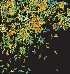 Weird floral pattern vector
