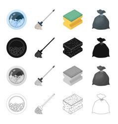 window washing machine mop cleaning sponge vector image