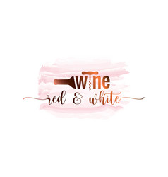 wine bottle watercolor logo on white background vector image