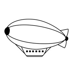 Zeppelin balloon icon image vector
