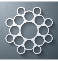 Abstract infographics symmetrical white circles vector image vector image