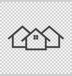black home icon on isolated background vector image
