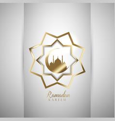 decorative ramadan background vector image