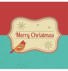 Vintage Xmas greeting card and background vector image vector image