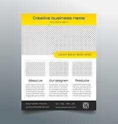 Business flyer template - modern sleek design vector image