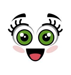 cute cartoon face vector image