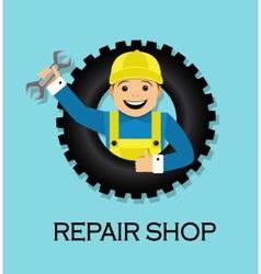 emblem repair shop vector image