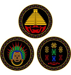 mayan and aztec symbols vector image