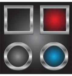 metal squares and circles vector image