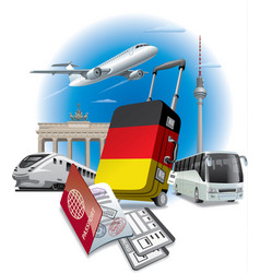 ravel to germany vector image vector image