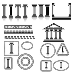 Silhouettes of Columns vector image