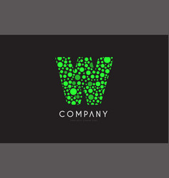w letter bubble green logo icon design vector image