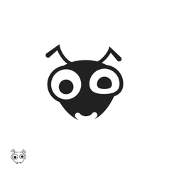 Ant head icon isolated on white background vector image vector image
