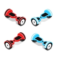 Gyroscooter Set Isometric View vector image vector image