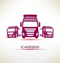 truck outlined symbol vector image