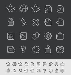 Web Icons Black Line vector image vector image