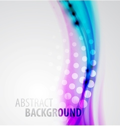 abstract blur waves background vector image vector image