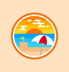 Beach badge vector image vector image