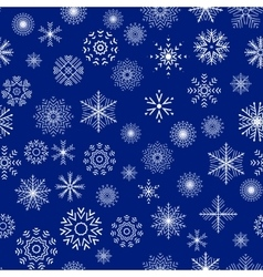 Christmas and New Year seamless blue pattern vector image