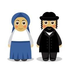 Jewish couple people vector image
