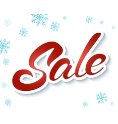 Lettering winter sale vector image vector image