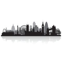 London city skyline silhouette vector image